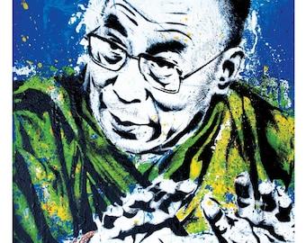 Dalai Lama-My Religion is Kindness -12 x 18 High Quality  Pop Art Print