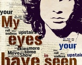 Print Jim Morrison poster The Doors music poster  Birthday Gift art Doors illustration Rock N Roll Music canvas giclee