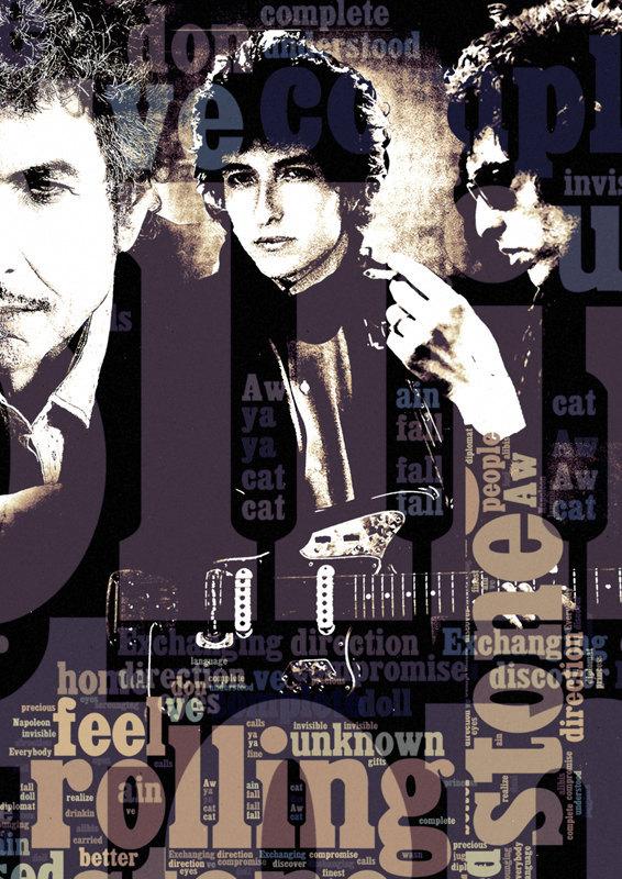 Print Bob Dylan Music Poster Birthday Gift Art Like By