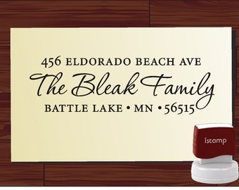 Custom Return Address Stamp - Self Inking  - PRIORITY MAIL Option available - personalized wedding or christmas gift - 9009