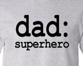 Dad or grandpa shirt - superhero, rockstar, custom wording t-shirt for dad or grandpa - funny Father's Day, holiday or birthday gift