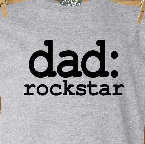 Dad or grandpa shirt - rockstar dad or grandpa custom t-shirt - funny birthday or Father's Day gift for dad