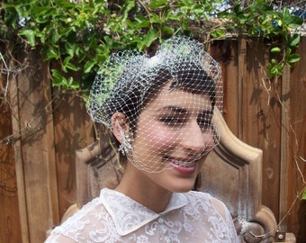 Jane Russell Original Standard Birdcage Veil - Bridal/Pinup/Retro/Boudoir- So many beautiful looks in ONE veil
