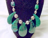 Azurite Chrysocolla Gemstone Necklace