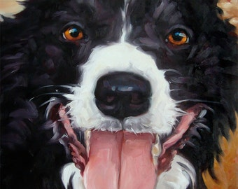 READY2ROMP, custom Dog Portrait in Oils by puci, 8x8 inches