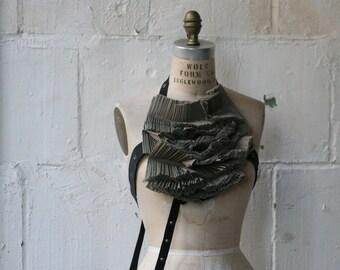 No. 110 Gray Harness, Fashion Accessories, Pleats, Fashion Bib, Tops