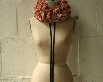 Valentine's Day , the Dirty Pink Cartwheel Ruff  /Wedding Accessories / Women's Fashion