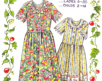 Prairie Point Dress Ladies Sizes from the Paisley Pincushion