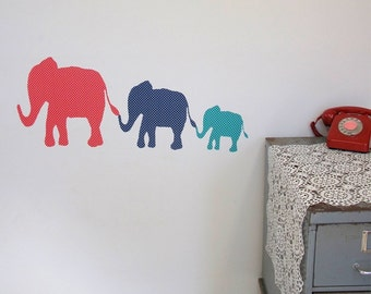 Dotty Elephants wall decal – fabric wall stickers