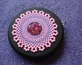 pink lavender blossom pendant