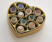 "Natural Solid Perfume ""Coeur de Parfum"" Luxury Box Set - MADE to ORDER - Heart shaped gift box set of delicious solid botanical perfumes"
