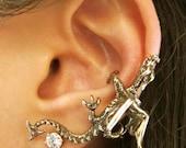 Dragon Ear Cuff Bronze - Dragon Climber Ear Cuff - Dragon Earring Dragon Ear Wrap - Dragon Jewelry Non Pierced Earring Non Pierced Ear Cuff
