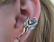 Fairy Ear Cuff Silver - Fairy Jewelry Fairy Earring - Silver Fairy - Wing Earring Wing Ear Cuff - Non Pierced Ear Cuff Non Pierced Earring