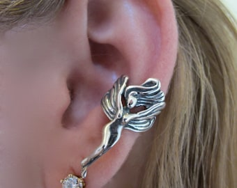 Fairy Ear Cuff Silver - Fairy Jewelry Fairy Earring - Silver Fairy - Wing Earring Wing Ear Cuff - Non Pierced Ear Cuff Non Pierced Earring