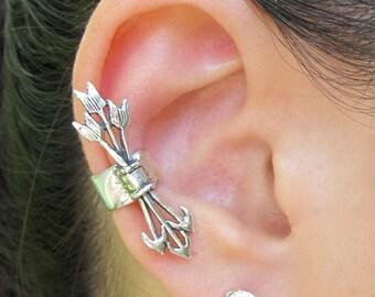 Silver Ear Cuff Arrow Ear Cuff Quiver and Arrows Ear Cuff Non-Pierced Earring Arrow Earring Silver Arrows Arrow Jewelry Arrow Charm Cuff