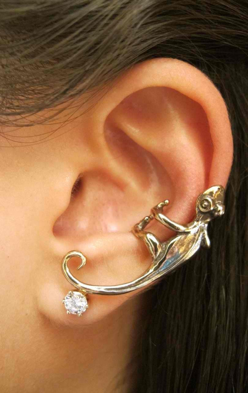 Ear Cuffs. We love adding a touch of grunge to our look, and that's where our great collection of ear cuffs come in. Get that classic rock chick look with a chained cuff or just clip a couple on to the top of your ear.