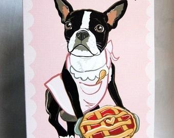 Cutie Pie Boston Terrier Greeting Card