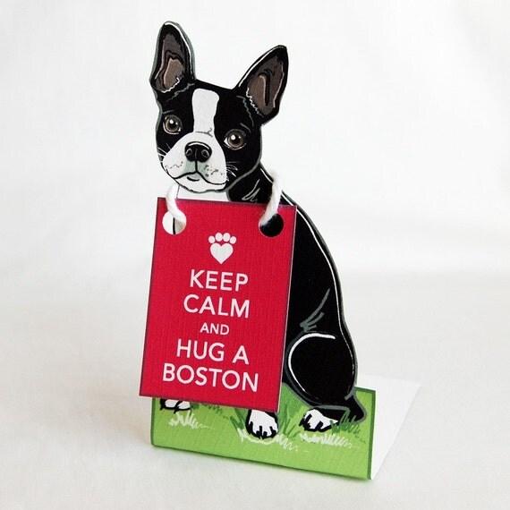 Keep Calm Boston Terrier - Desk Decor Paper Doll