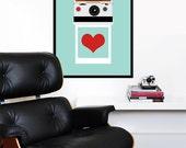 Polaroid poster print photography eames SX70 Mid century modern love kitchen art office - Instant  Love SX-70 50 x 70 cm