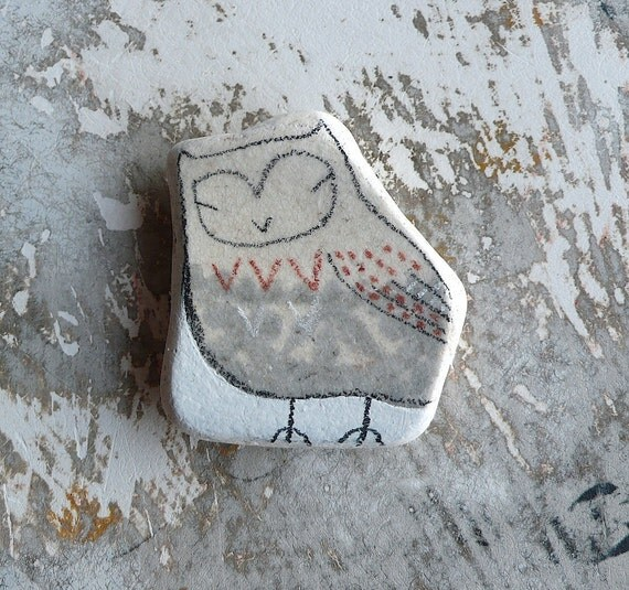 RESERVED - Beach Pottery Owl