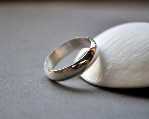 Wedding Band. Men's Single Band. Gloss. High Shine. Modern Contemporary Simple Sleek Design. Sterling Silver. Jewellery. Jewelry. Handmade.