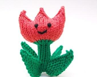 Spring Tulip Knitted Amigurumi Plush Toy Soft Sculpture