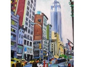 Empire State Building New York City Art NYC Fine Art Print 8x10, Cityscape Painting by Gwen Meyerson
