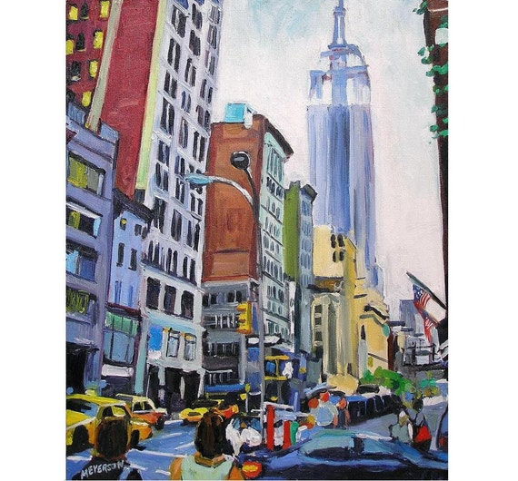 NYC Fine Art Print 8x10 Empire State Building New by ...