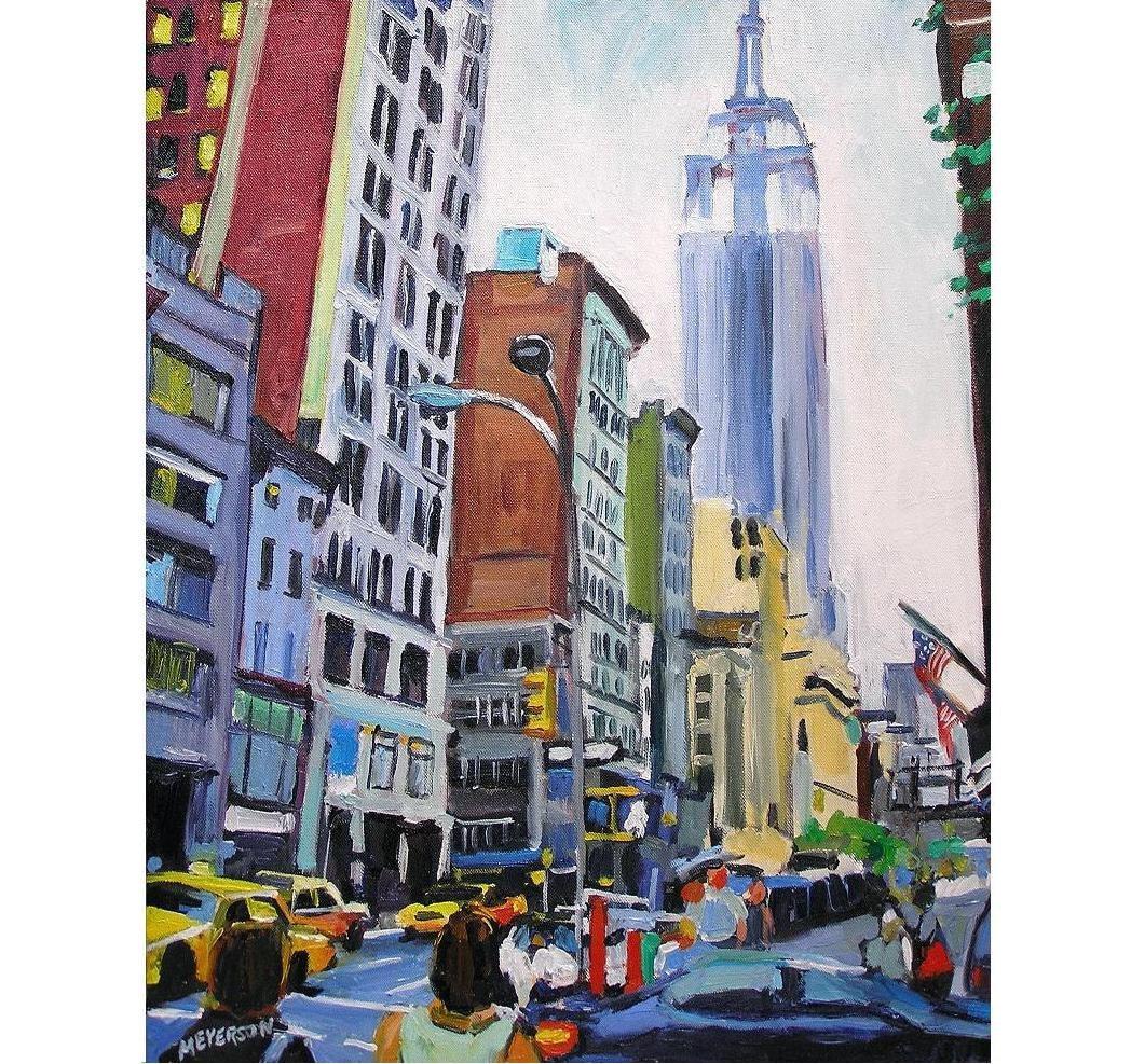 Empire State Building New York City Painting Manhattan Midtown