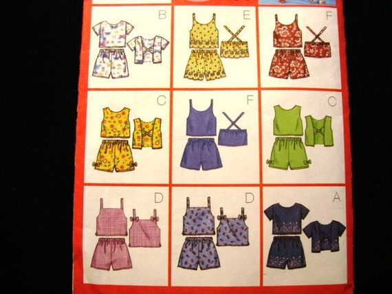 Butterick Girls Top and Shorts Pattern 9 easy to sew outfits Sunsuit Toddler Childs size 2 3 4 5 UNCUT