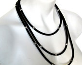 eco friendly necklace, modern african design, multi strand necklace, tribal style necklace, rubber jewellery