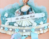 Robins Egg Blue MARIE ANTOINETTE Let Them Eat Cake Crown