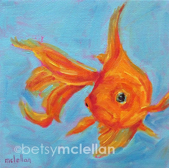 Goldfish Goldfish Art Fancy Goldfish Paper Canvas