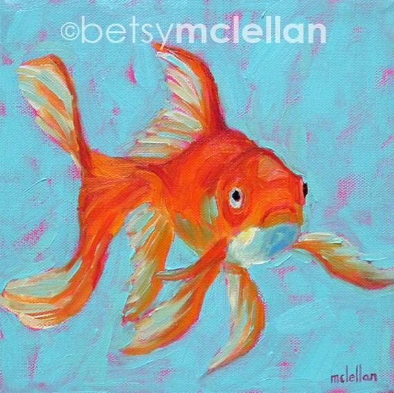 Goldfish goldfish art fancy goldfish paper canvas for The fancy fish