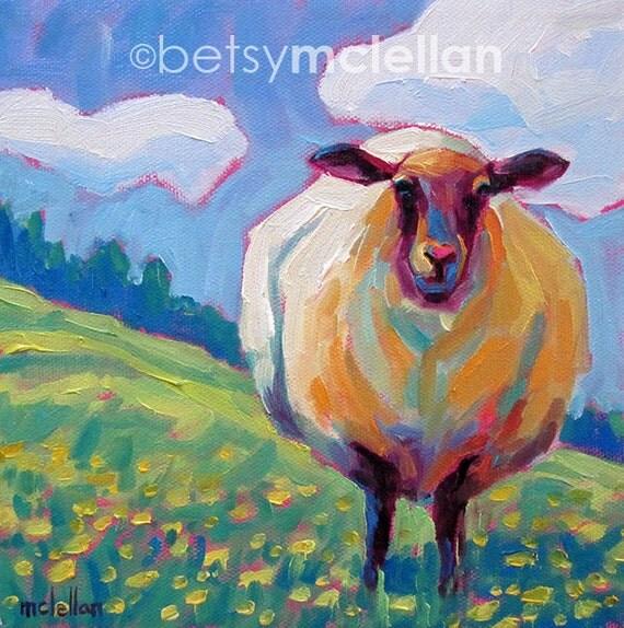 Custom Order for Elizabeth - Sheep Print - Giclee Print