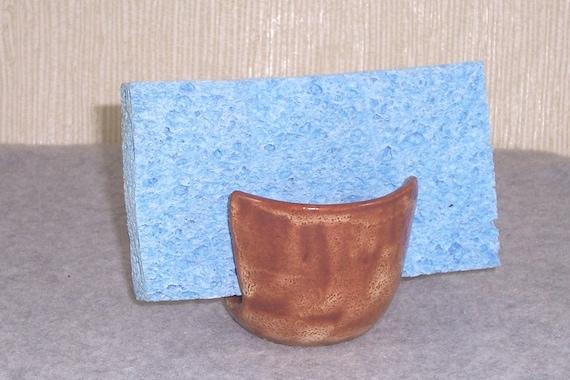 Ceramic Sponge Holder - Beige tan - Stoneware Cup - Wheel Thrown Stoneware Pottery