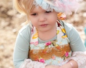 JUST for  FUN Lacy hairpiece for special occasions, photo shoots,circus, pageants, babies, and parties