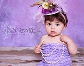 IN A  DAZE-Y - mini top hat or hairpiece special occasion, photo shoots,circus, lilac, babies, birthday party