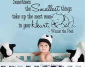 "Wall Decal Winnie the Pooh Nursery Wall Words Large 050-35"" (LARGE)"