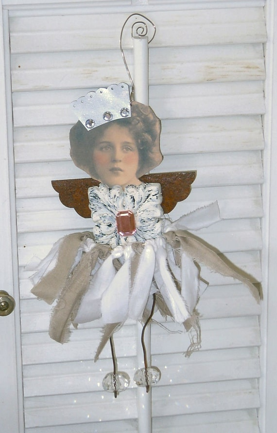 aLtErEd Art Doll | Junk Angel -| Mixed Media Assemblage