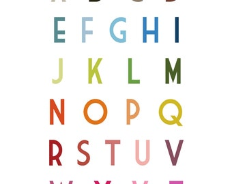 English Uppercase Alphabet Poster 11x14