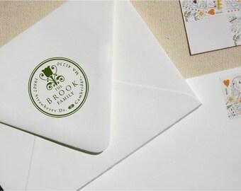 Custom Stamp - Return Address Stamp - Tulip Inspired Address Stamp - Personalized Address Stamp