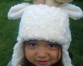 Sheep Hat, spiral horned ram, rams animal hat