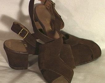 Vintage 1940's Shoes Slingbacks Size 5 1/2