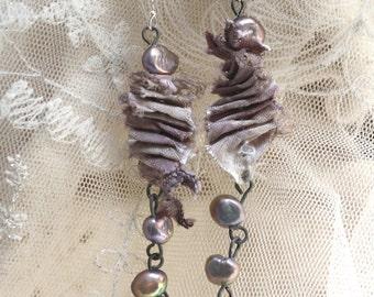 charmed sea horse - sea silk ear adornments - sale!