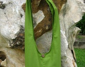 Princess Mononoke KODAMA Hip / Shoulder sling Bag Thai Cotton 8 green