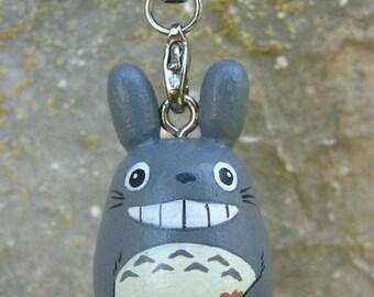 TOTORO Doll Phone strap key chain rings Studio Ghibli toy Gray (Size S)