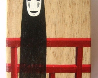 Spirited Away Hand Painted wooden Box Studio Ghibli No Face 3