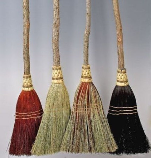 Shaker Broom in your choice of Natural, Black, Rust or Mixed Broomcorn