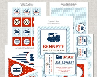 Printable Vintage Train Party Collection - DIY